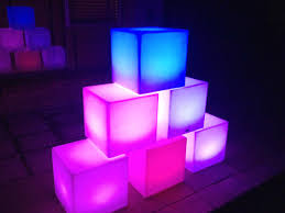 led cubes led furniture hire functions events