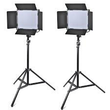 light stand led kit 2x pt 660a led video studio light metal frame 2x light