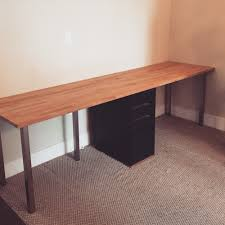 Diy Student Desk by Diy Ikea Desk Parts Karlby Countertop Beech 139 Sjunne Leg