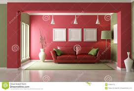 red and green living room stock photos image 21823173