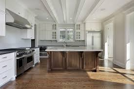 Kitchen Shaker Cabinets by Upscale White Cabinet Kitchen With Chandelier Greenvirals Style
