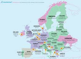 europe map by country news what s on map reveals the top tourist attraction in every