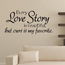 stickers chambre chambre stickers muraux chaque histoire d amour est mur de