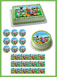 edible print mickey mouse clubhouse 3 edible cake or cupcake topper edible