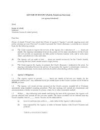 Contract Letter Of Intent Template by Letter Of Intent To Hire Public Relations Firm Legal Forms And