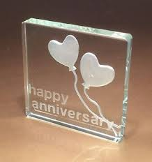 25th wedding anniversary gift 25th silver wedding anniversary gifts spaceform glass token gift