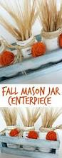 easy to make fall decorations fall mason jar centerpieces and how to make burlap rosettes