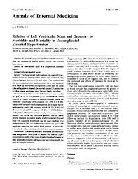 relation of left ventricular mass and geometry to morbidity and