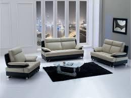 Modern Leather Sofa Black Living Room White Sectional Leather Sofa White Cushions Shelves