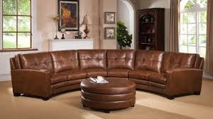 Top Grain Leather Sectional Sofa Brilliant Brown Leather Sectional Sofas And Optional Ottoman