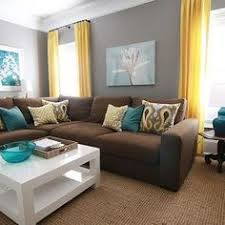 Brown Furniture Living Room Ideas Brown Leather Sofa And Colorful Pillows Funky Living Room Decor