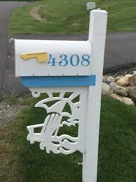 Nautical Themed Mailboxes - beach chair by the ocean coastal corner bracket our nautical