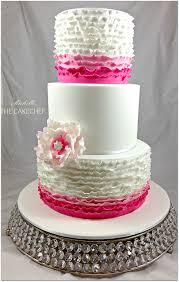 fuschia pink ruffle wedding cake wedding cake cake and weddings