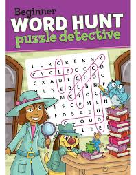 beginner word hunt puzzle detective beaver books publishing