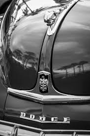 1948 dodge ram ornament emblem photograph by reger