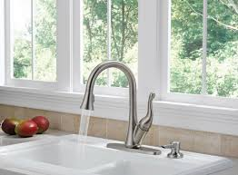 delta single kitchen faucet delta single handle pullout kitchen faucet reviews modern