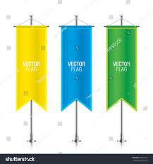 Green White And Yellow Flag Set Colorful Vector Banner Flag Templates Stock Vector 560378176