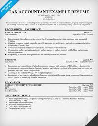 Accounting Resume Examples And Samples by 11 Sample Resume Tax Accountant Riez Sample Resumes Tempat