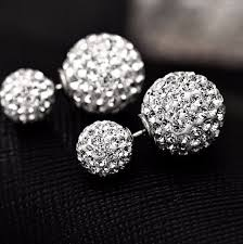 diamond back earrings earrings front and back earring baller earrings diamond post