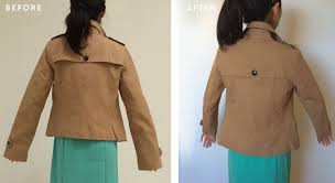 altering a trench coat from regular to petite sizing extra petite