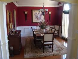 Dining Rooms With Wainscoting Classic Dining Room Formal Dining Room In Deep Red With White