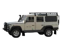 range rover defender land rover defender 110 slimline ii 3 4 roof rack kit by front