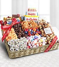 send gift basket birthday festive feasting snack tray best