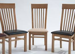 Coloured Leather Dining Chairs Oak Dining Chair With Cream Seat Pair Hampshire Furniture