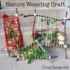 craftiments nature weaving craft nature activities pinterest