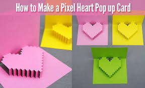 how to make a pixel pop up card for s day diy