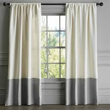 2 Tone Curtains Set Of 2 Designer Two Tone Linen Curtains Each Panel 50 Inches