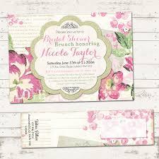 vintage bridal shower invitations valerie pullam designs bridal shower invitation with wrap around