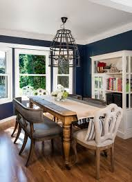 navy blue dining room dining room beach style with table setting