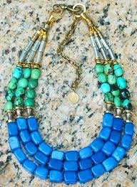 blue jade necklace images Stunning green turquoise blue jade gold silver statement necklace JPG