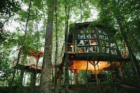 Real Treehouse Romantic Luxury Treehouse Retreat At Bolt Farm Treehouses For