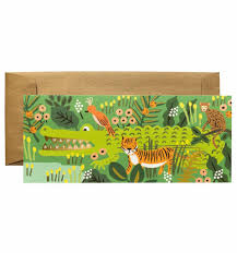 Jungle Birthday Card Happy Birthday Alligator Copper Foil Card Clementine