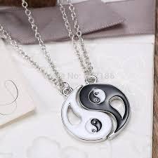 Cheap Personalized Necklaces Aliexpress Com Buy 2p Set Yin Yang Pendant Necklace Black White