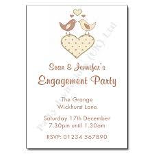 Engagement Party Invites Love Birds Engagement Party Invitation Personalised Invitations