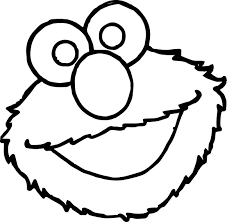 sesame street elmo face coloring page wecoloringpage