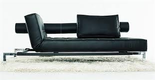 Daybed Sofa Couch Luxe Daybed Sofa With Head Elevation Black