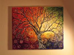 cool abstract acrylic painting ideas canvas
