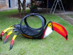 How To Use Old Tires For Decorating Tire Recycling Ideas 23 Animal Shaped Garden Decorations