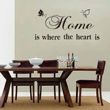 compare prices on wall mural decor online shopping buy low price home is where the heart is quote wall sticker diy pvc removable butterfly wall stickers wall