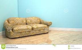 Corner Of A Room Old Classic Sofa In A Room Stock Illustration Image 47066982