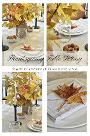 thanksgiving table setting flat creek farmhouse flat creek