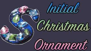 personalized initial christmas ornament diy velvetway youtube