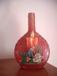 garrafa presépio vela bottle crib candle arte em garrafas