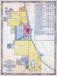 L Chicago Map by Population U0026 Annexation