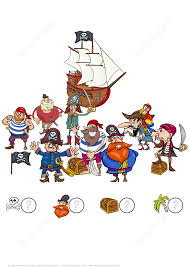 count pirates puzzle worksheet free printable puzzle games