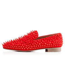 christian louboutin dandypikpik red spikes leather christian